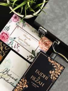 Wedding invitation card for your wedding day Singapore